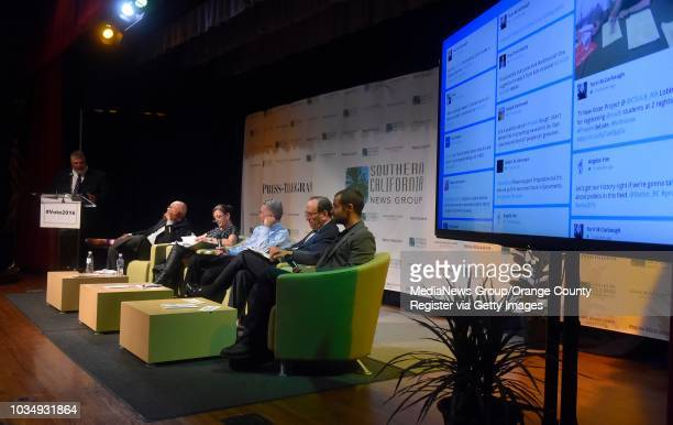 From left moderator Tom Bray Greg Akili Diane Goldstein Andrew Acosta Marc Greenberg and Stefan BorstCensullo take part in a panel forum on the pros...