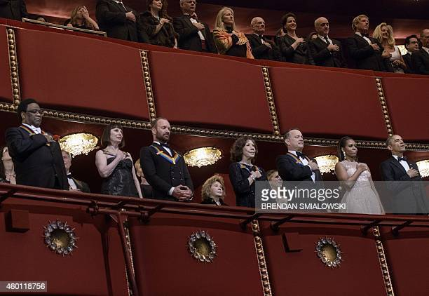 musician Al Green ballerina Patricia McBride musician Sting actress Lily Tomlin actor Tom Hanks US first lady Michelle Obama and President Barack...