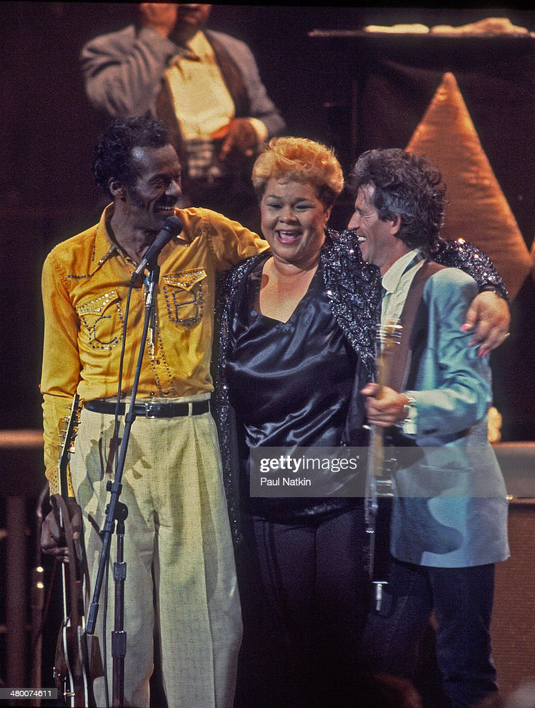 Berry, James, & Richards Perform Onstage : News Photo