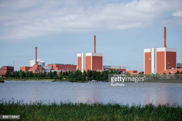 New OL3 EPR OL2 and OL1 nuclear reactors at thr Olkiluoto nuclear power plant in Olkiluoto Eurajoki Finland on 17 August 2017