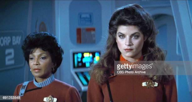 "From left: Nichelle Nichols as Commander Uhura and Kirstie Alley as Lieutenant Saavik in the movie, ""Star Trek II: The Wrath of Khan."" Release date,..."