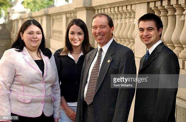From left Noelle Dominguez Marissa Padilla Rep Tom Udall DNM and Pablo Duran