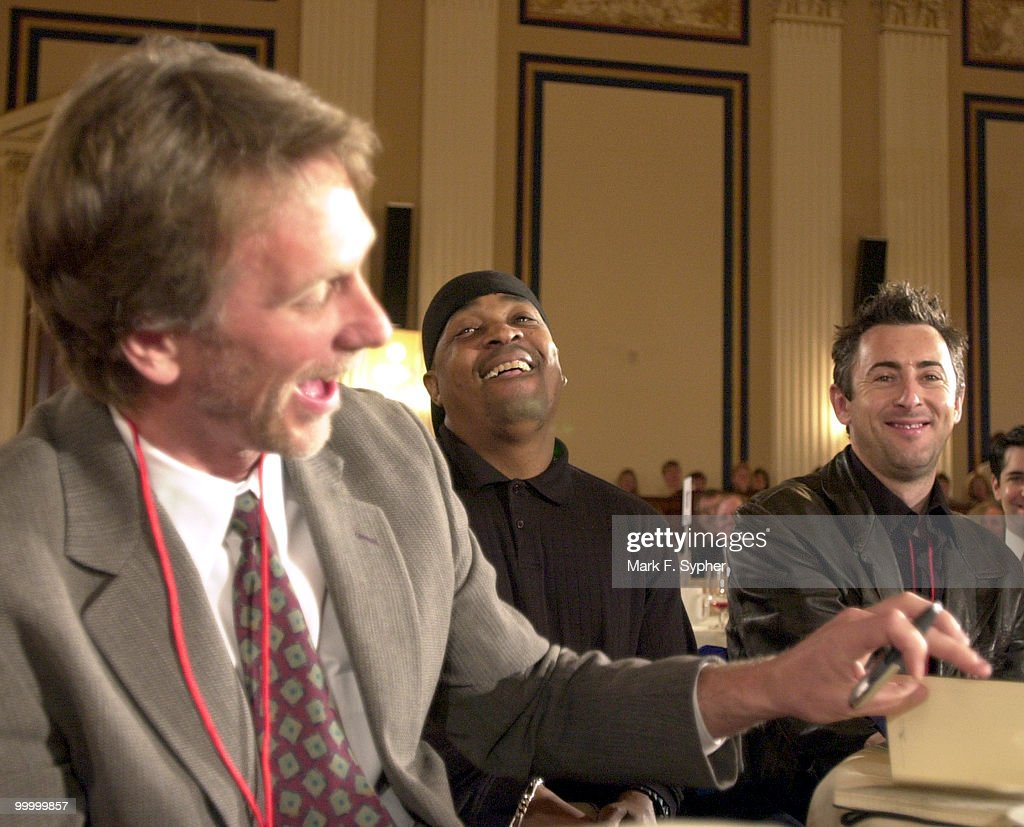 From Left, Peter Horton, Chuck D and Alan Cumming have a laugh in the Cannon Caucus Room during The Creative Coalition's Arts Advocacy Day Delagation, on Tuesday.