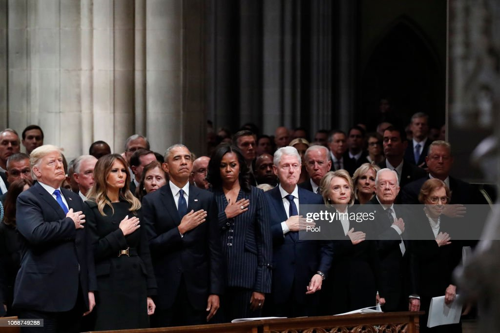 State Funeral Held For George H.W. Bush At The Washington National Cathedral : ニュース写真