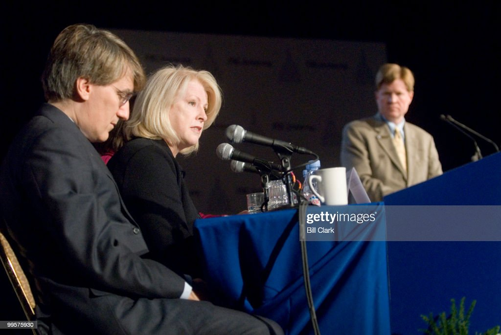 From left, Prof. Robert George, of Princeton, Univ., Rep. Marilyn Musgrave, R-Colo., and Peter Sprigg, vice president of the FRC, participate in the 'Preservation of Traditional Marriage' panel during the Family Research Council's 2006 Values Voter Summit in Washington on Sept. 22, 2006.