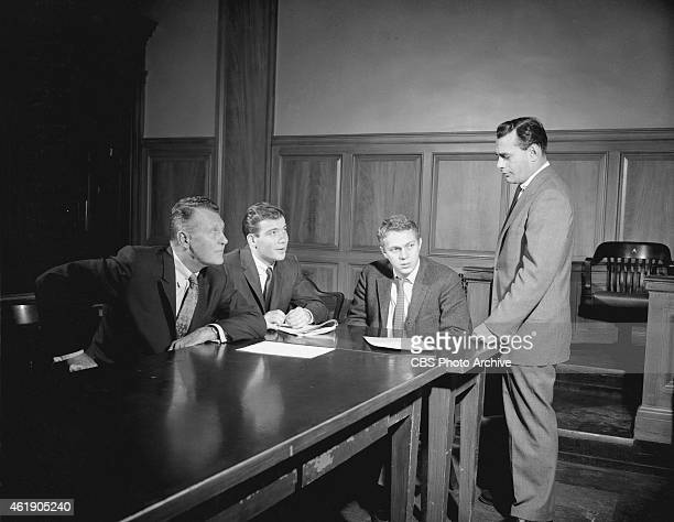 Ralph Bellamy William Shatner Steve McQueen Martin Balsam in The Defender Image dated February 9 1957