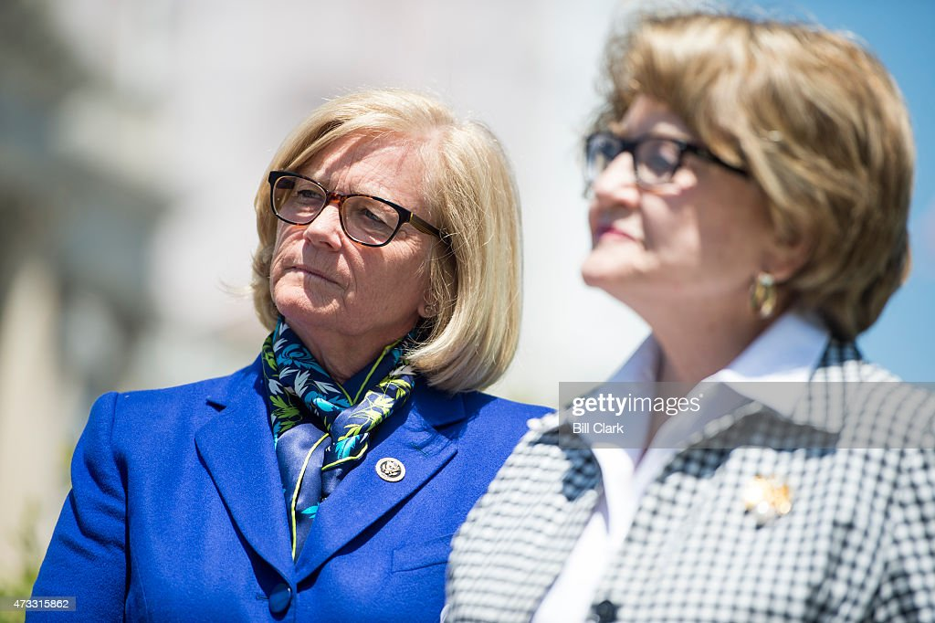 From Left Rep Chellie Pingree D Maine And Rep Louise