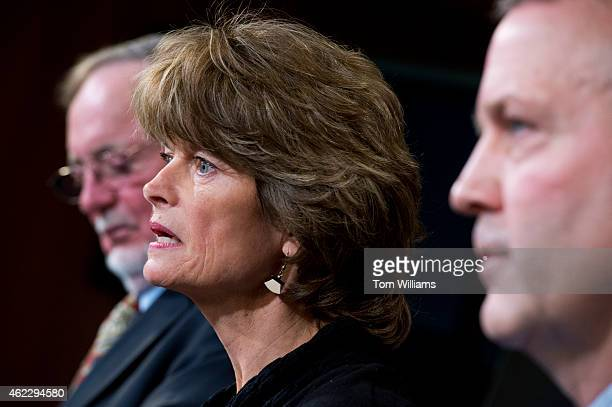 From left Rep Don Young RAlaska Senate Energy and Natural Resources Chairwoman Lisa Murkowski RAlaska Sen Dan Sullivan RAlaska conduct a news...