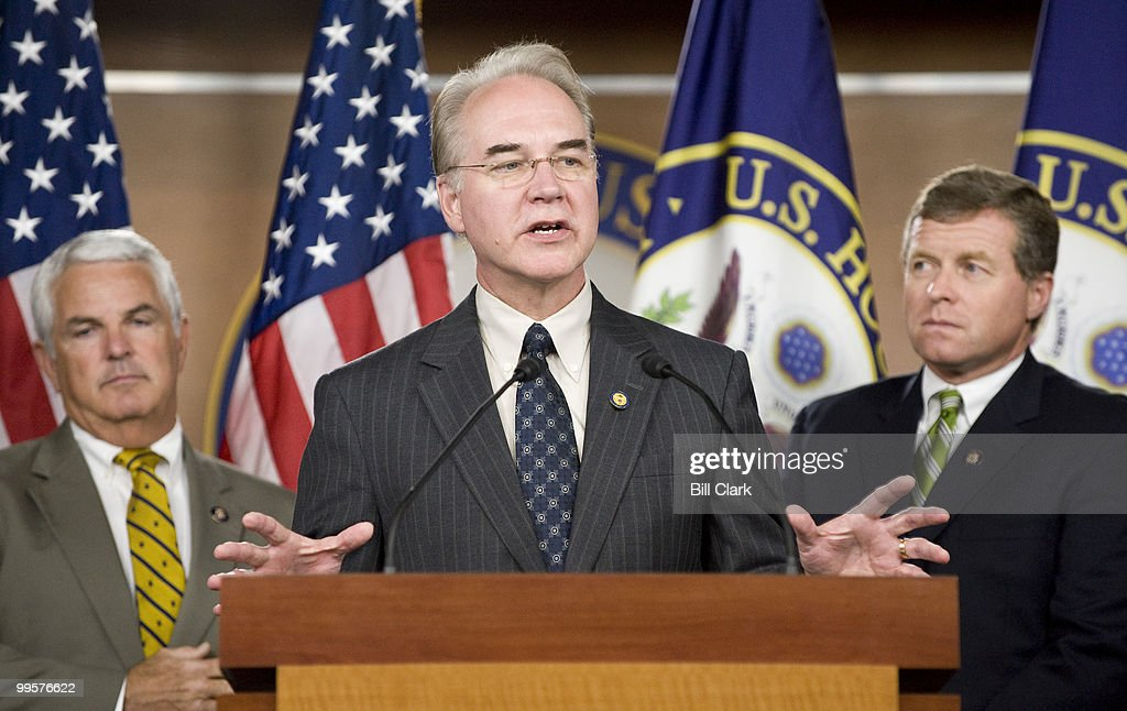 From left, Rep. John Shadegg, R-Ariz., Rep. Tom Price, R-Ga., and Rep. Charles Dent, R-Pa., participate in their news conference on Republican health care plans on Thursday, Sept. 17, 2009.