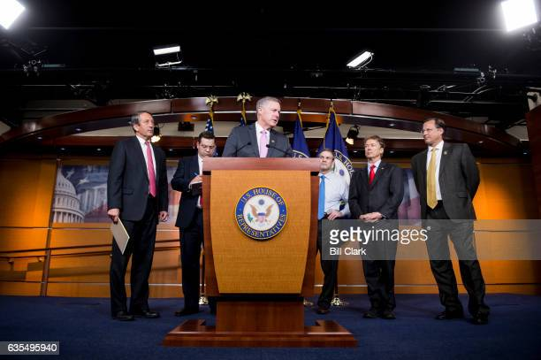 From left Rep Mark Sanford RSC Rep Tom Garrett RVa Rep Mark Meadows RNC Rep Jim Jordan ROhio Sen Rand Paul RKy and Rep Dave Brat RVa participate in...