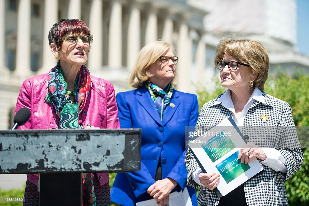 From Left Rep Rosa Delauro D Conn Rep Chellie Pingree
