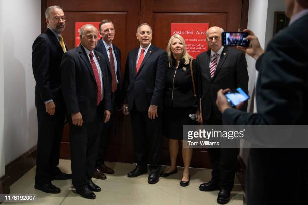 From left Reps Andy Harris RMd Steve King RIowa Paul Gosar RAriz Andy Biggs RAriz Debbie Lesko RAriz and Louie Gohmert RTexas pose for a picture...