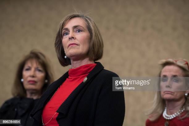 From left Reps Jackie Speier DCalif Kathy Castor DFla and Debbie Dingell DMich attend a news conference in the Capitol on December 20 on CHIP which...