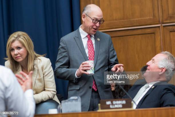 From left Reps Marsha Blackburn RTenn Greg Walden ROre and John Shimkus RIll attend a House Energy and Commerce Health Subcommittee hearing in...
