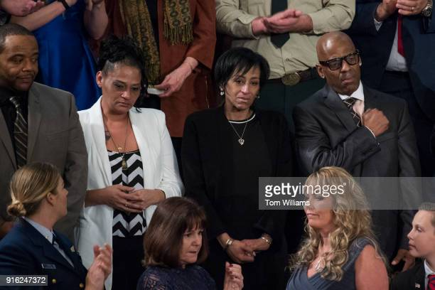 From left Robert Mickens and Elizabeth Alvarado and Evelyn Rodriguez and Freddy Cuevas the parents of Nisa Mickens and Kayla Cuevas who were killed...