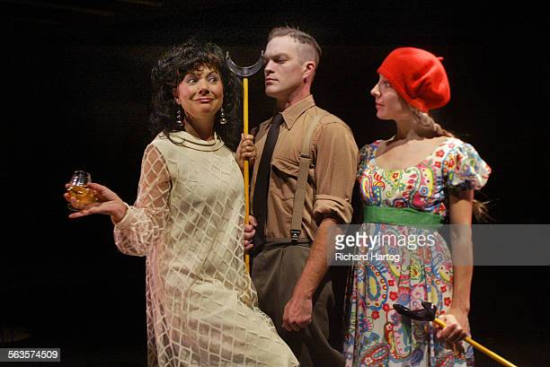 From left Robin Karfo Chris Schultz and Sienna McCandless during a scene from Happy Birthday Wanda June at the Actors Gang Theatre Tuesday evening in...