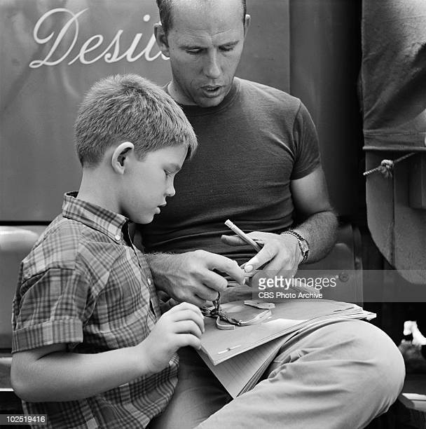 Ron Howard with his father Rance Howard between takes of episode 'Mr McBeevee' Image dated July 30 1962 Rance HowardRon Howard