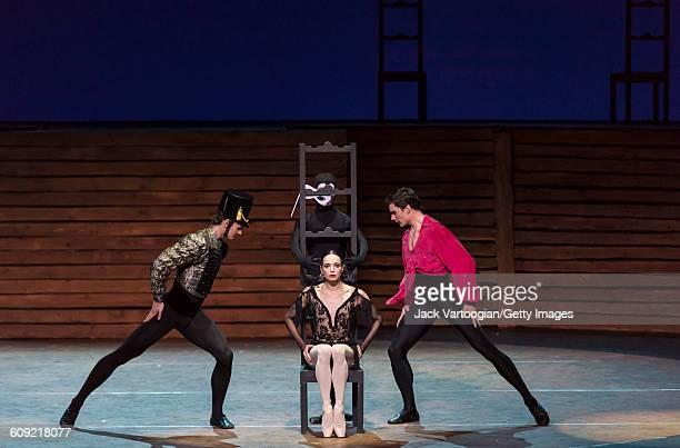 From left, Russian dancers Roman Belyakov , Diana Vishneva , Aleksandra Iosifidi , and Ivan Oskorbin , all of the Mariinsky Ballet, perform 'Carmen...