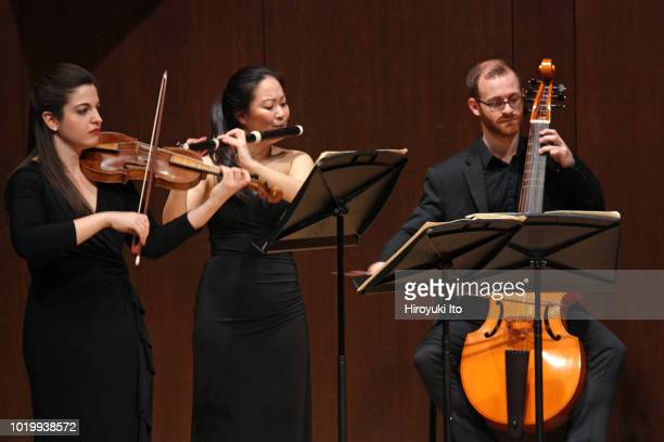 From left Sarah Jane Kenner Bethanne Walker and Matt Zuker play the music of Francois Couperin in the Juilliard School's Historical Performance L'Art...
