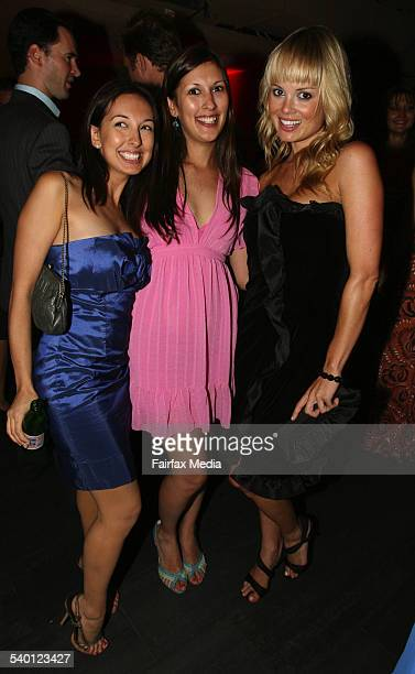 From left Sarah Ranawake and Emily Ranawake and Amy Erbacher at the Hotel Campari launch at the Crystal Bar Sydney 31 January 2007 SHD Picture by...