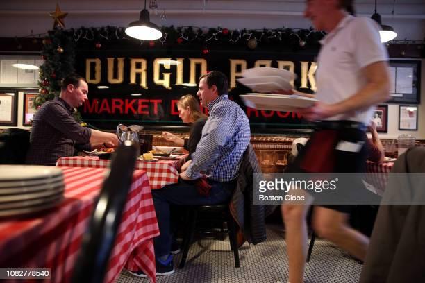 From left Sean Cunningham Jennifer Carp and Joe Tormo dine at DurginPark in Boston on Jan 4 2019 DurginPark a centuriesold Boston landmark that has...