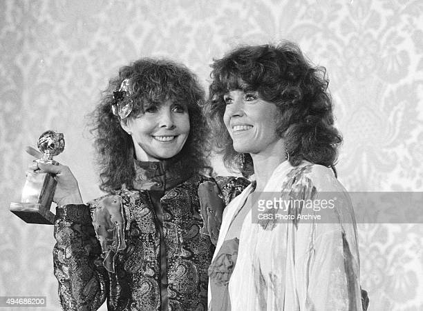 From left Shirlee Fonda and Jane Fonda attend the 39th Annual Golden Globe Awards Image dated January 30 1982 Hollywood CA