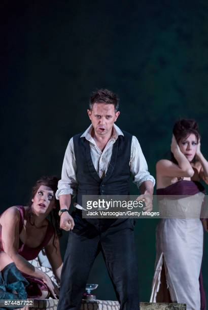 From left South African soprano Amanda Echalaz English countertenor Iestyn Davies and American soprano Audrey Luna perform at the final dress...