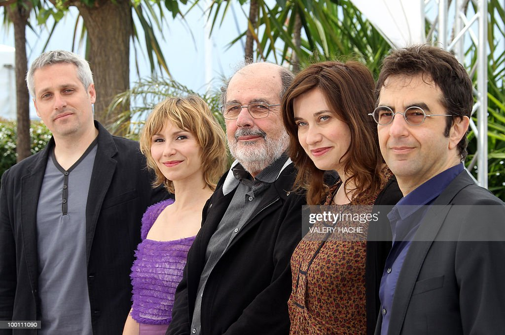 Spanish actor Marc Recha, Russian actress Dinara Droukarova, Brazilian director Carlos Diegues, French actress Emmanuelle Devos and Canadian director, president of the jury Atom Egoyan pose during the photocall of the Cinefondation Jury at the 63rd Cannes Film Festival on May 19, 2010 in Cannes.