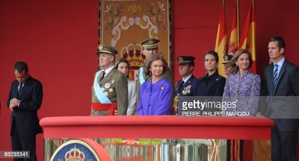 Spanish Prime Minister Jose Luis Rodriguez Zapatero King Juan Carlos Princess Letizia Prince Felipe Queen Sofia Princess Elena Princess Cristina and...