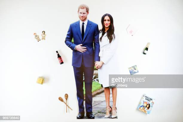 From left The royal couple jolly gingers gingerbread men manufactured by the Biscuiteer Baking Company Ltd A bottle of Harry Meghan's Windsor Knot...