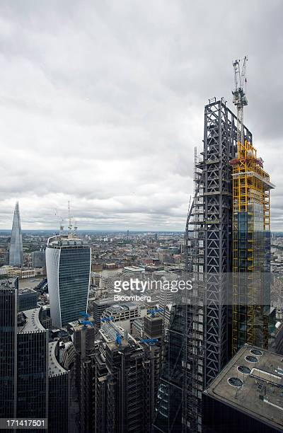 From left the Shard tower 20 Fenchurch Street also known as the 'WalkieTalkie' and the Leadenhall building also known as the 'Cheesegrater' are seen...