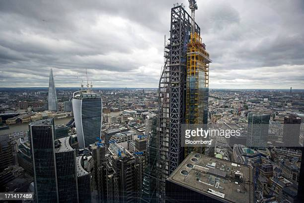 From left the Willis tower the Shard tower 20 Fenchurch Street also known as the 'WalkieTalkie' and the Leadenhall building also known as the...