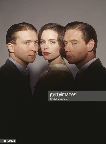From left to right actors Alex Lowe Kate Beckinsale and Anthony Andrews in a publicity still for the film 'Haunted' 1995