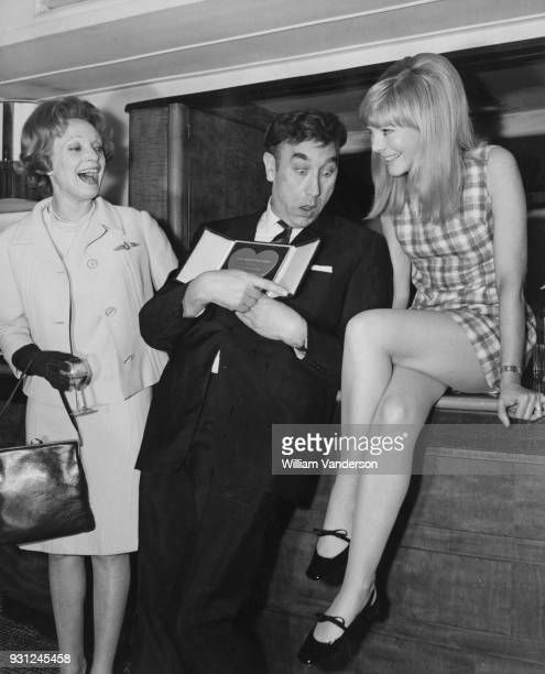 From left to right actors Anna Neagle Frankie Howerd and Barbara Ferris at the 1966 Variety Club Awards at the Savoy Hotel in London 14th March 1967...