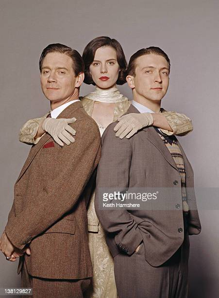 From left to right actors Anthony Andrews Kate Beckinsale and Alex Lowe in a publicity still for the film 'Haunted' 1995