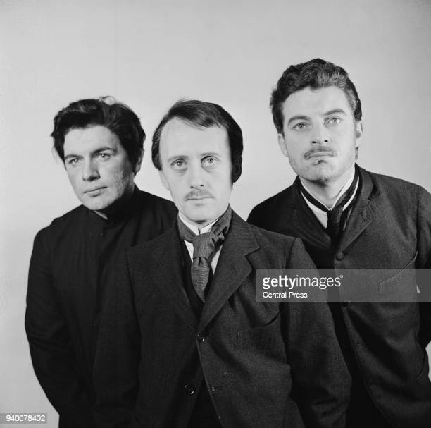 From left to right, actors Brian Cox as Joseph Stalin, Kenneth Colley as Adolf Hitler and John Castle as Benito Mussolini in a trilogy of plays...