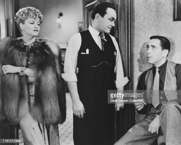 From left to right actors Claire Trevor as Jo Keller and Edward G Robinson as Dr Clitterhouse and Humphrey Bogart as 'Rocks' Valentine in the film...