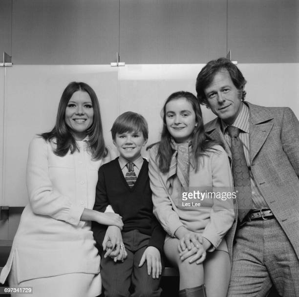 From left to right actors Diana Rigg Tyler Butterworth Zuleika Robson and Robert Culp who are to appear together in the 'ITV Sunday Night Theatre'...