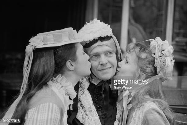 From left to right, actors Joanna McCallum as Kitty, Tom Courtenay in the title role, and Celia Bannerman as Amy during a photocall for the Brandon...