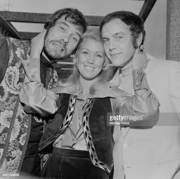 From left to right actors Mike Pratt as Jeff Randall Annette Andre as Jeannie Hopkirk and Kenneth Cope as Marty Hopkirk the stars of the new...
