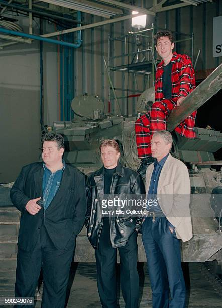 From left to right actors Robbie Coltrane Sean Bean Gottfried John and Alan Cumming during a publicity shoot for the James Bond film 'GoldenEye' 22nd...