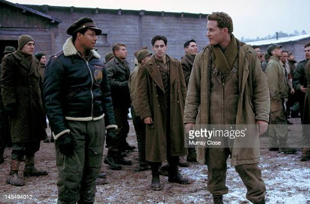 From left to right actors Terrence Howard Colin Farrell and Cole Hauser in a scene from the film 'Hart's War' 2002