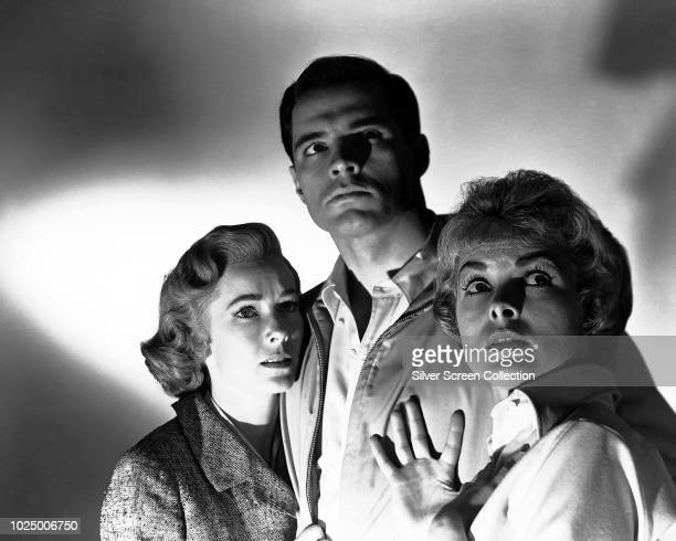 From left to right, actors Vera Miles as Lila Crane, John Gavin as Sam Loomis and Janet Leigh as Marion Crane in a publicity still for the horror...