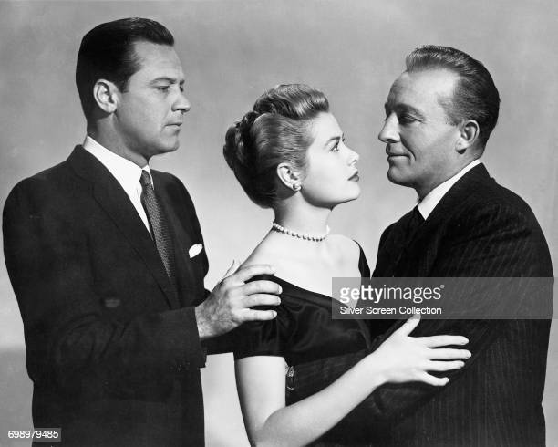 From left to right actors William Holden Grace Kelly and Bing Crosby in the film 'The Country Girl' 1954