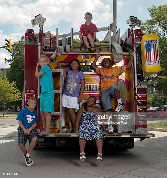 AUGUST 10 2011 from left to right Aidan Shaw Marina Pariser Juliana Bonilla William Faber Arkilah Henry and Michael Briscoe all six children will...