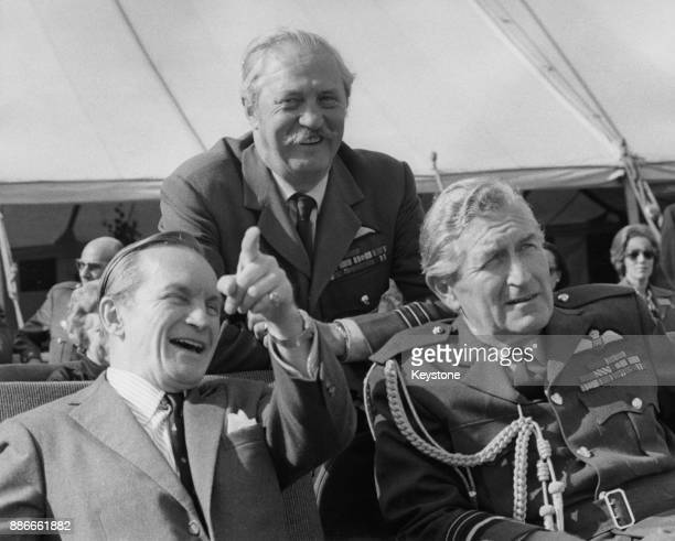 From left to right, Air Marshal Sir Denis Crowley-Milling , controller of the RAF Benevolent Fund, Wing Commander Alan McGregor and Air Marshal Sir...