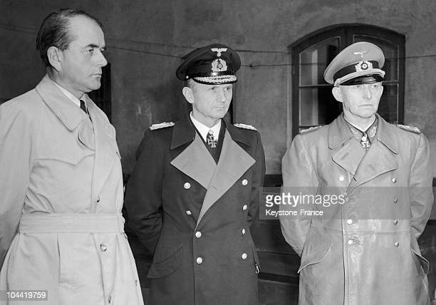 From Left To Right Albert Speer Minister For The Economy Of The Transitory Government Of Doenitz Karl Doenitz The Designated Successor Of Hitler And...