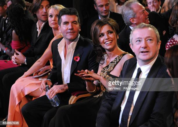 Amanda Holden Simon Cowell Cheryl Cole and Louis Walsh at the 2008 National Television Awards at the Royal Albert Hall Kensington Gore SW7