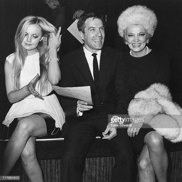 From left to right American actress Alexandra Ray actor director and screenwriter John Cassavetes and his wife actress Gena Rowlands circa 1968