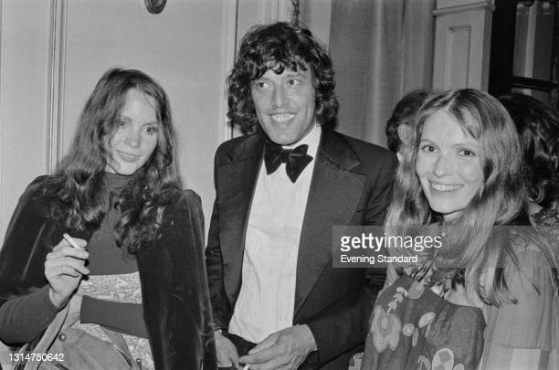 From left to right, American actress Tisa Farrow, British playwright Tom Stoppard and actress Mia Farrow attend the opening of a stage production of...